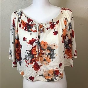Miss Me floral print off shoulder top